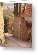 Down The Lane In Beynac France Greeting Card