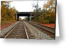 Down The Lines Greeting Card
