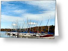 Down To The Docks Greeting Card