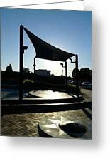 Down Town Sunset In Pittsburg California City Center Greeting Card