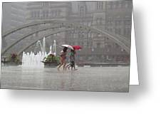 Downpour In Toronto Greeting Card