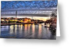 Downtown Batavia Illinois Greeting Card by Dan Crosby