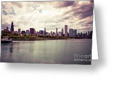 Downtown Chicago Skyline Lakefront Greeting Card