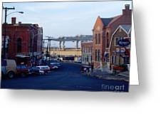 Downtown Eastport Maine Greeting Card by Geri Harkin-Tuckett