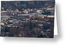 Downtown Grants Pass Sunday Morning Greeting Card