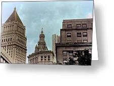 Downtown Manhattan Greeting Card
