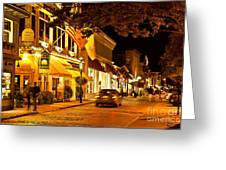 Downtown Newport Greeting Card