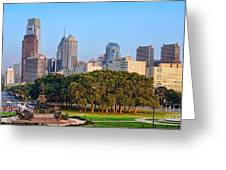 Downtown Philadelphia Skyline Greeting Card