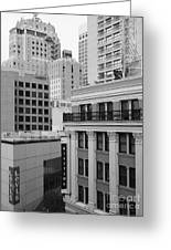 Downtown San Francisco Buildings - 5d19323 - Black And White Greeting Card
