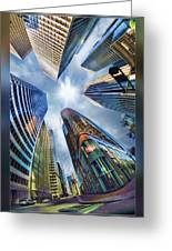 Downtown Sunstream Greeting Card