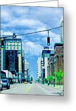 Downtown Union Ave Memphis Tn Greeting Card