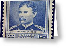 Dr Walter Reed Postage Stamp Greeting Card