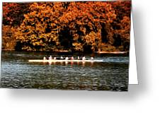 Dragon Boat On The Schuylkill Greeting Card