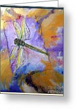 Dragonfly Dreams Greeting Card by M C Sturman