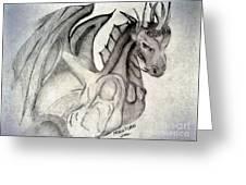 Dragonheart - Bw Greeting Card