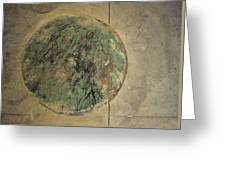 Drain Cover In Cement Greeting Card