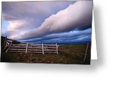 Dramatic Cloud Formations Greeting Card