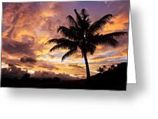 Dramatic Fiji Sunrise Greeting Card