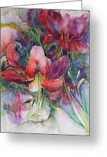 Dramatic Lilies Greeting Card