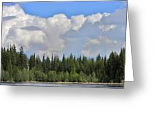 Dramatic Sky Marshall Lake Greeting Card