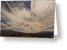 Dramatic Sky Over Mount Shasta Greeting Card
