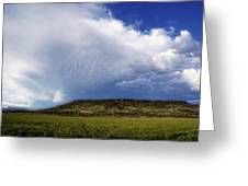 Dramatic Storm Over Table Rock Greeting Card