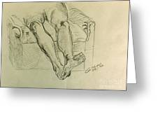 Drawing Class. Legs And Feet Greeting Card