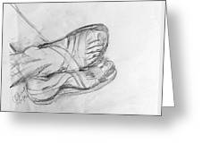 Drawing Class. Sandaled Feet Greeting Card