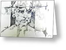 Drawing Of A Man Greeting Card