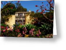 Dream Cottage In Malibu Greeting Card