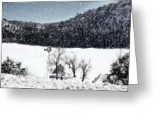 Dreams Of Snow  Greeting Card