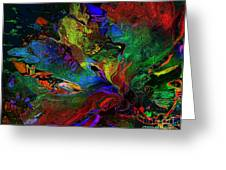 Dreamscape Abstract Number Five Greeting Card by Doris Wood