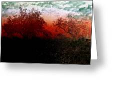 Dreamscape Sunset - Abstract Greeting Card