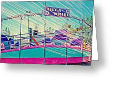 Dreamy Tilt-a-whirl Carnival Ride Greeting Card