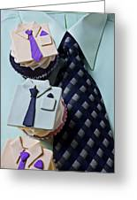 Dress Shirt Cupcakes Greeting Card by Garry Gay