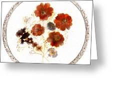 Dried Flower Art Greeting Card