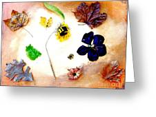 Dried Flowers And Leaves Greeting Card