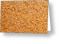 Dried Lentils, A Type Of Pulse Greeting Card