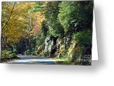 Drive In The Mountains Greeting Card