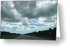 Driving Through The Clouds Greeting Card