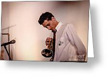 Droid- Jordan Mcclean On Trumpet Greeting Card