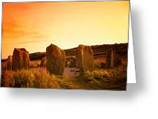 Drombeg Stone Circle, Near Glandore, Co Greeting Card