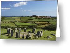 Drombeg Stone Circle Near Glandore In Greeting Card