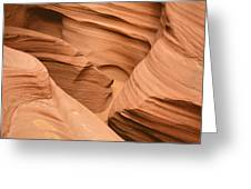 Drowning In The Sand - Antelope Canyon Az Greeting Card