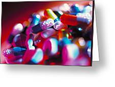 Drug Pills And Capsules Greeting Card