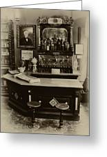 Drugstore Soda Fountain - New Orleans Greeting Card