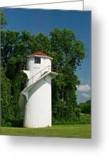 Dry Land Lighthouse 1 Greeting Card