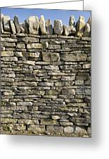 Dry Stone Wall, Dorset Greeting Card