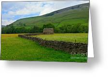Dry Stone Walls And Stone Barn Greeting Card