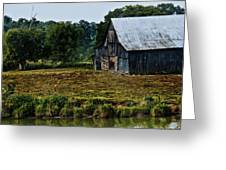 Drying Tobacco Barn Greeting Card